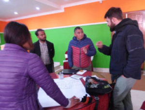 Training participants discussed how to increase awareness in vulnerable communities
